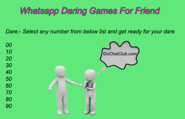 whatsapp dare games for friends
