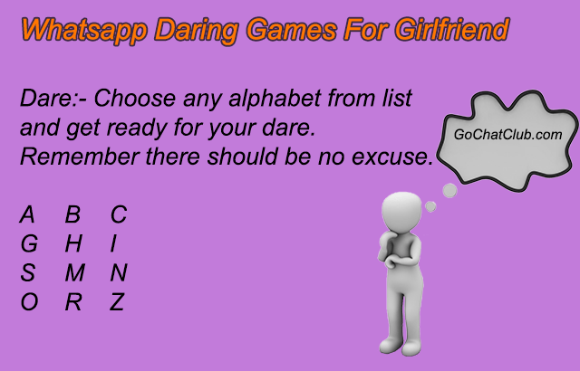whatsapp dare games for girlfriend