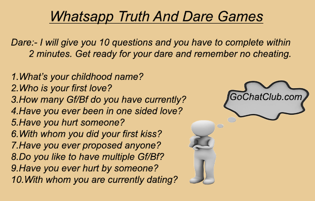 truth and dare message