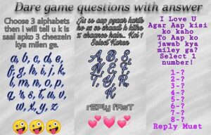 500+ Whatsapp Dare Games Questions With Answers